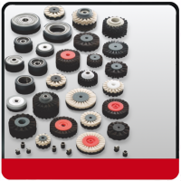 Rubber Wheels and Feeder Brushes